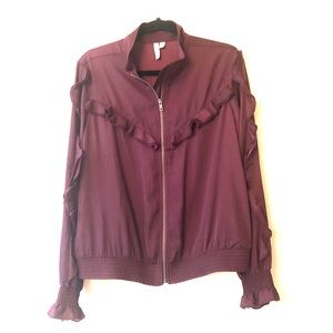 Treasure & Bond Nordstrom L Ruffle Bomber Jacket